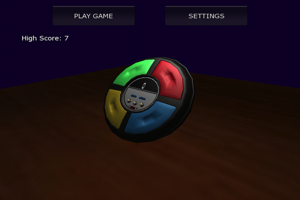Screenshot 3D Simon